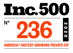 Inc.500 n. 236 America's Fastest-Growing Private Company 2020